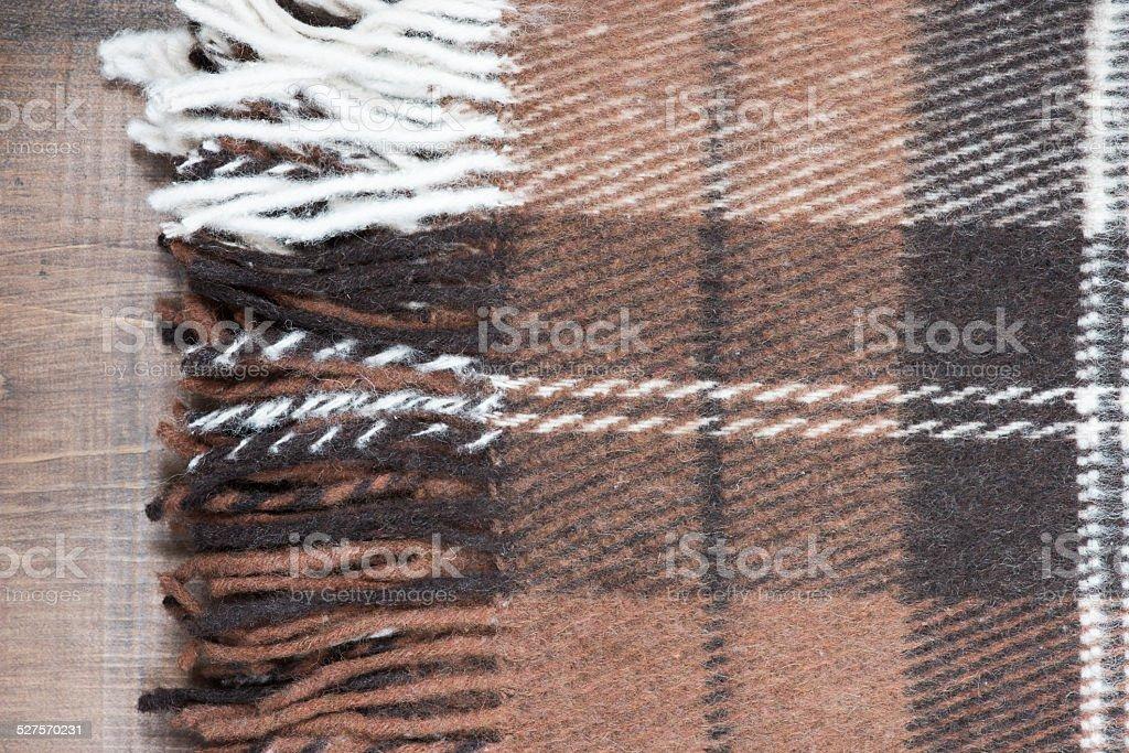 Wool plaid stock photo
