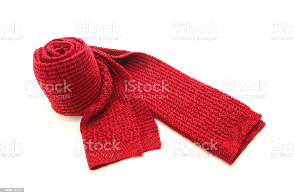 Wool Red Scarf stock photo