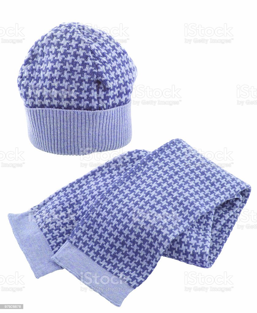 Wool scarf and cap royalty-free stock photo