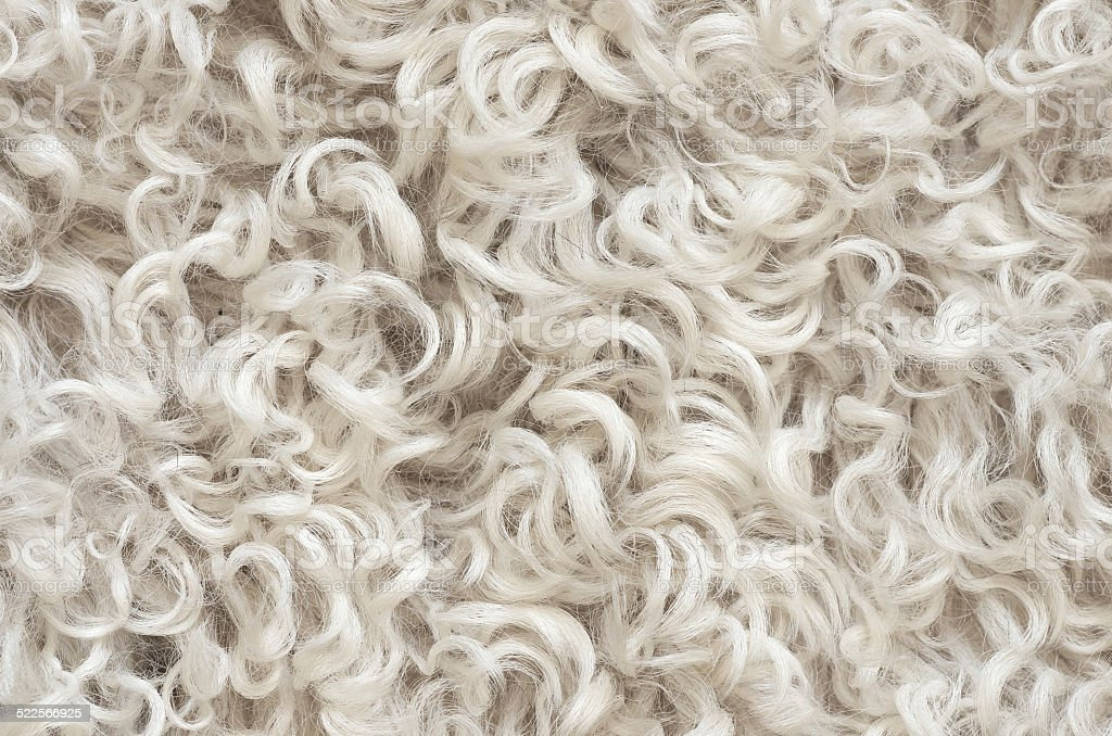 Wool sheepskin stock photo