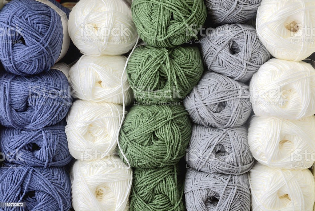 Wool stack royalty-free stock photo