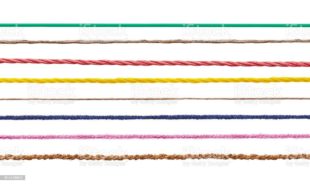 wool string rope cord cable line stock photo