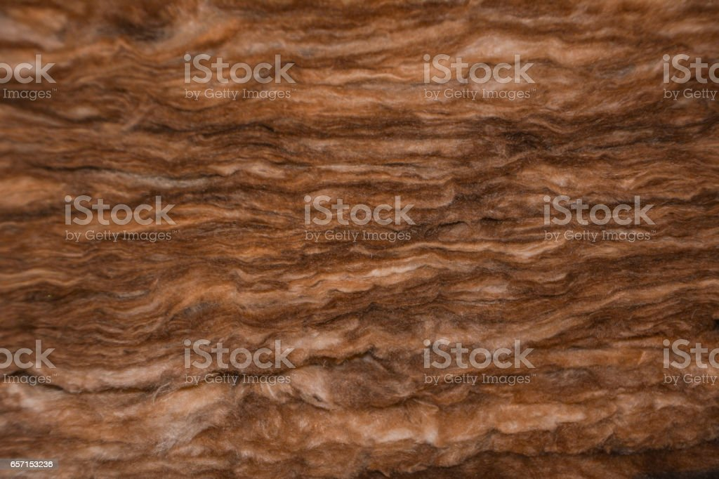 wool thermal insulation from rock stock photo
