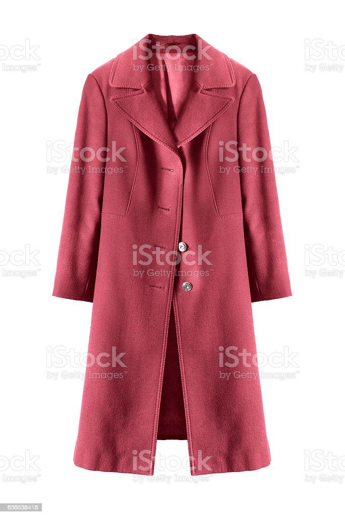 Wool topcoat isolated stock photo