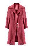 Wool topcoat isolated