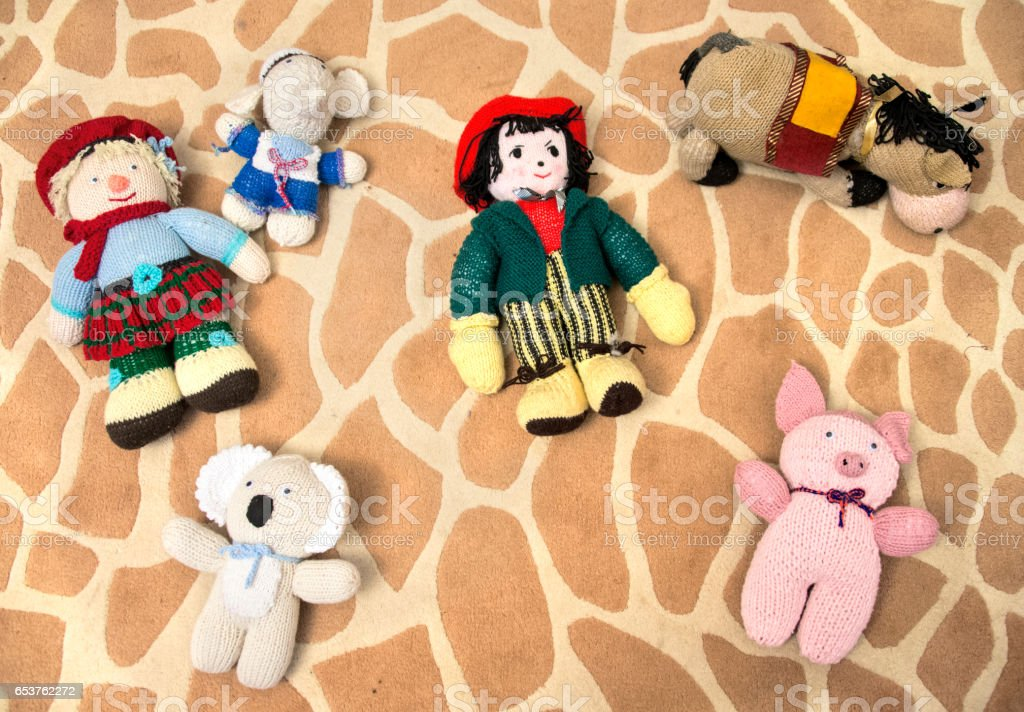 Wool toys stock photo