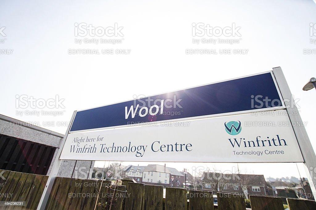 Wool Train Station, United Kingdom stock photo