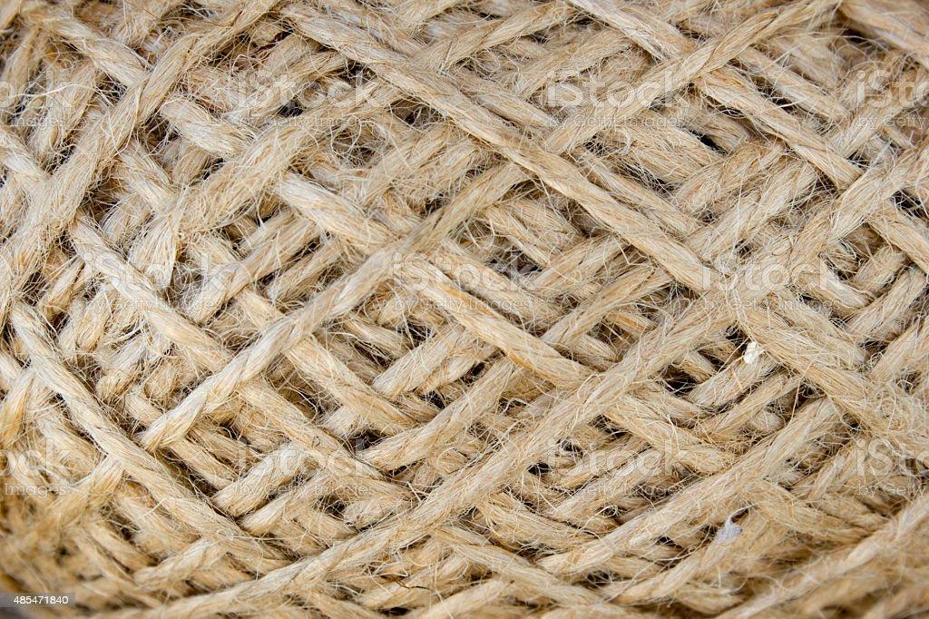 wool yarn clew macro stock photo