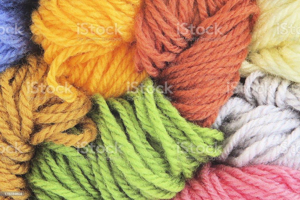 Wool Yarn Knitting Hobby Material stock photo
