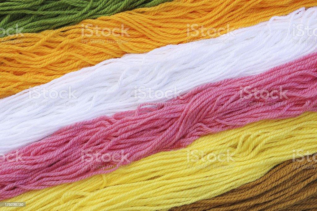 Wool Yarn Knitting Hobby Material royalty-free stock photo
