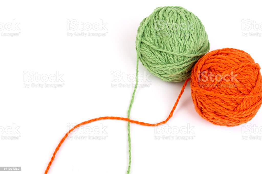 wool yarns stock photo