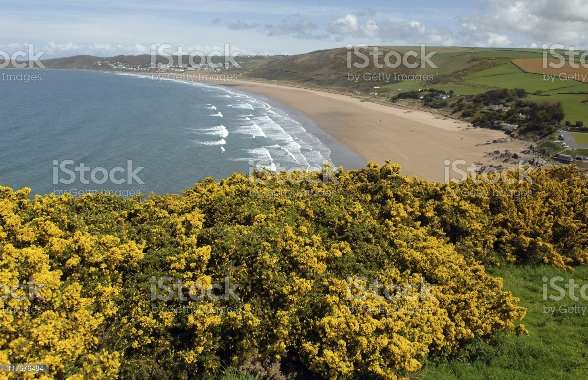 Woolacombe View royalty-free stock photo