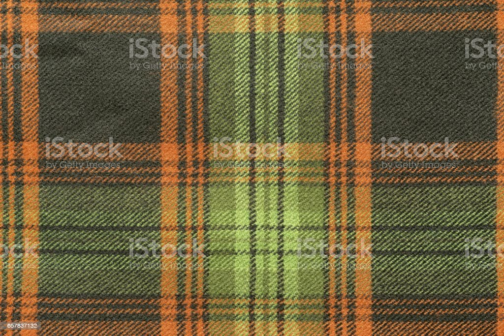woolen fabric with an checkered pattern stock photo