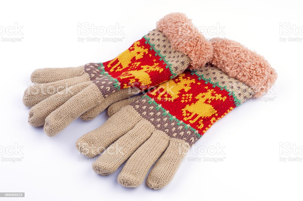 woolen gloves royalty-free stock photo
