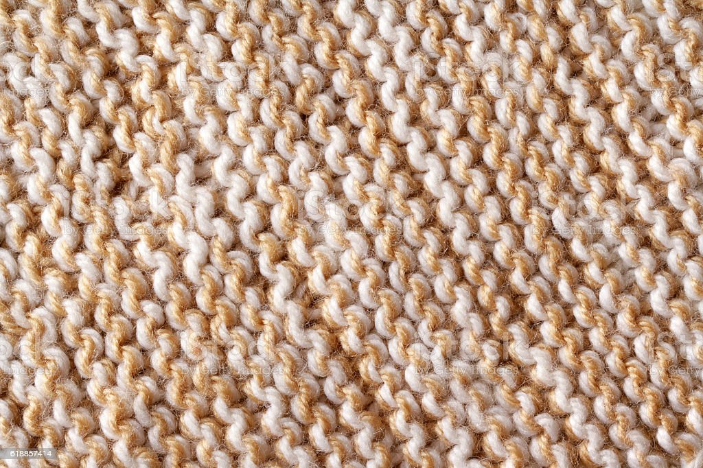 Woolen knitted texture (brown) stock photo