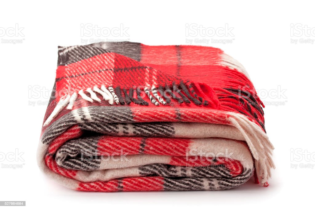 woolen plaid stock photo