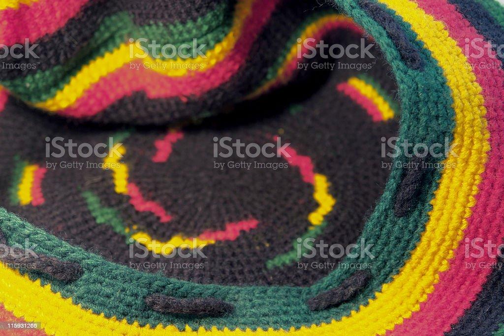 woolen rasta cap stock photo