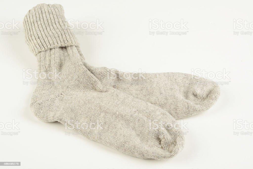 woolen socks royalty-free stock photo