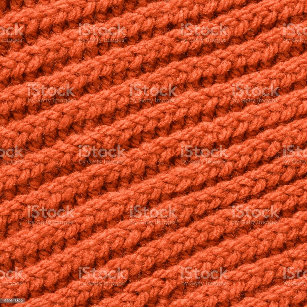Woolen Woven Fabric Red Texture Background