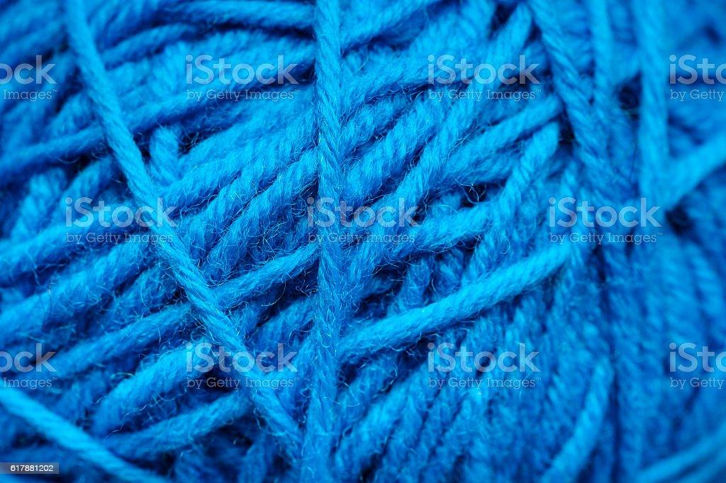 Woolen yarn ball stock photo