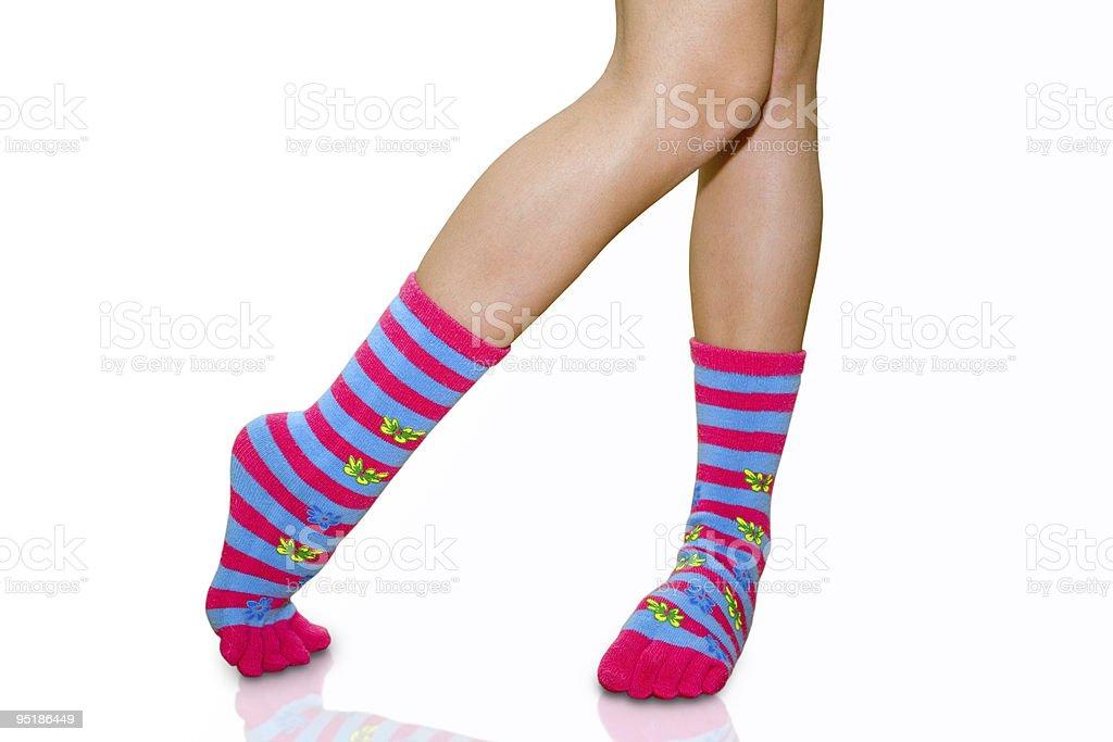 Woollen short stockings royalty-free stock photo