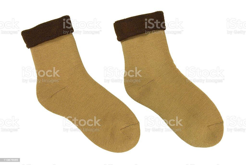 Woollen socks royalty-free stock photo