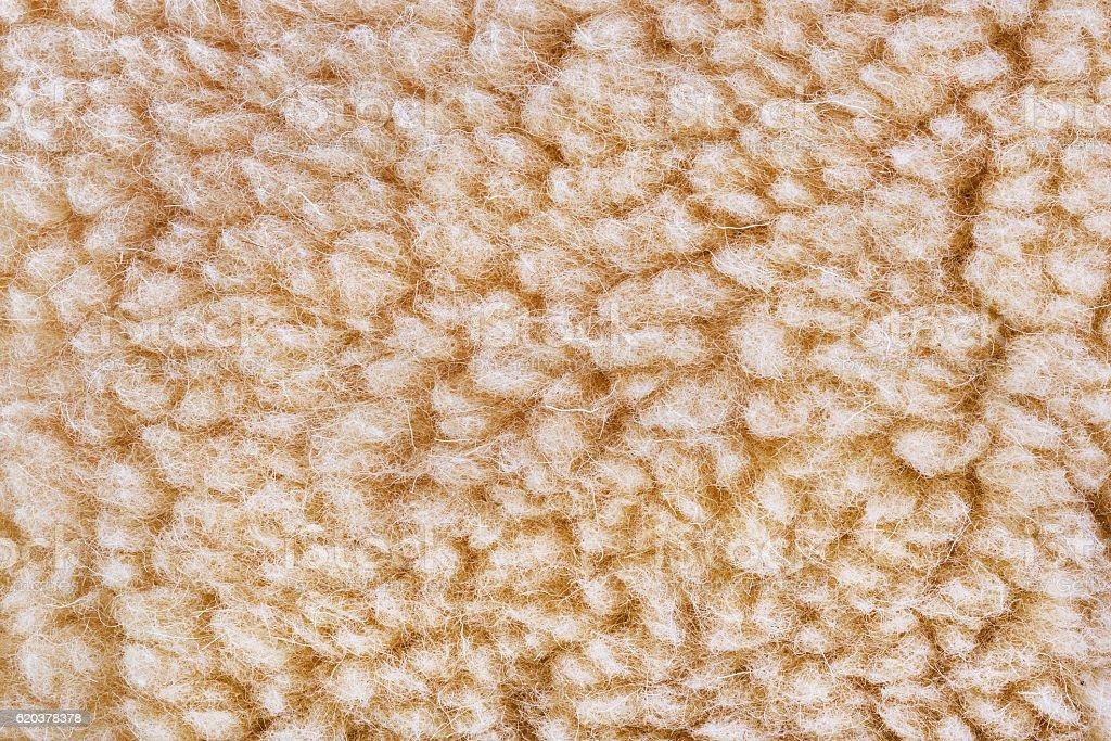Woolly sheep fleece background stock photo