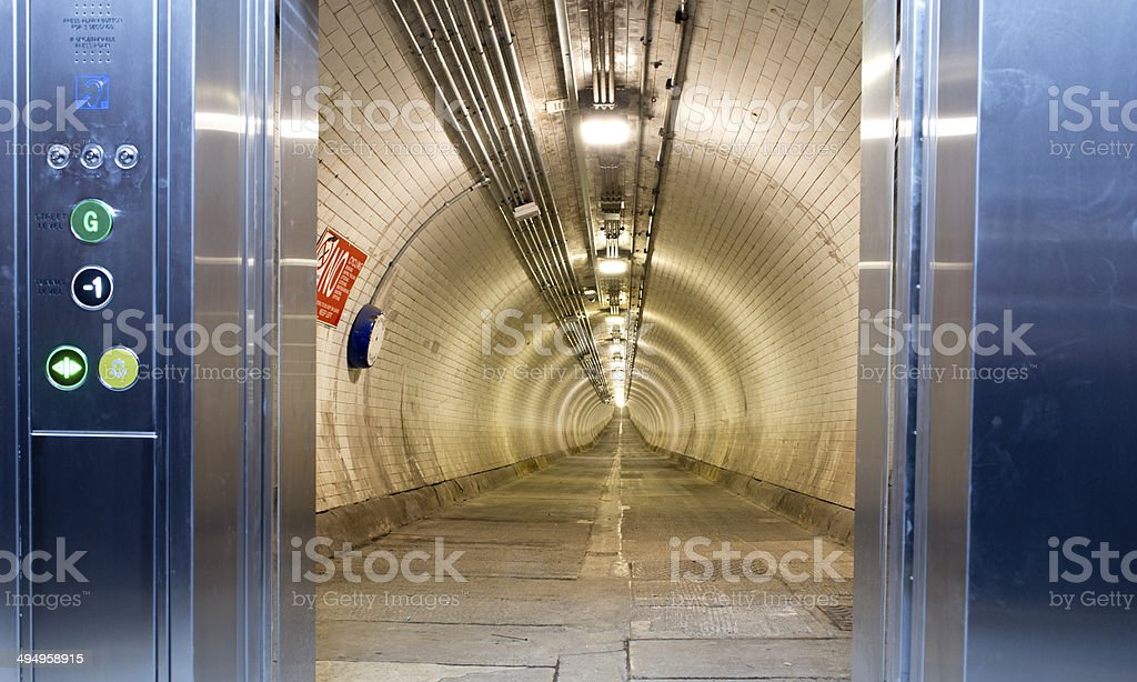 Woolwich Foot Tunnel stock photo