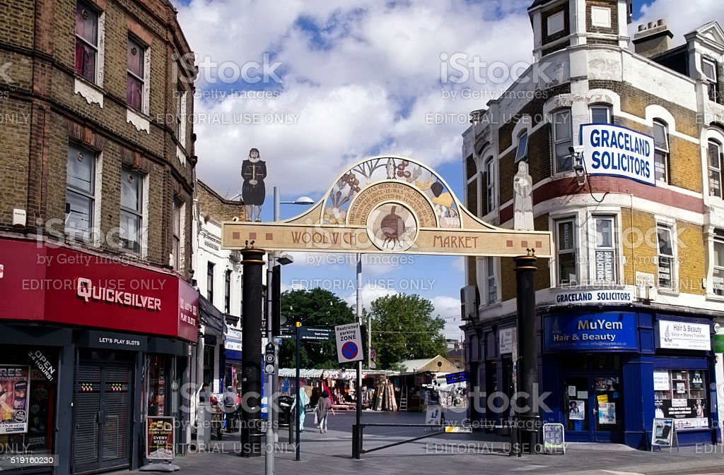 Woolwich Market, London stock photo