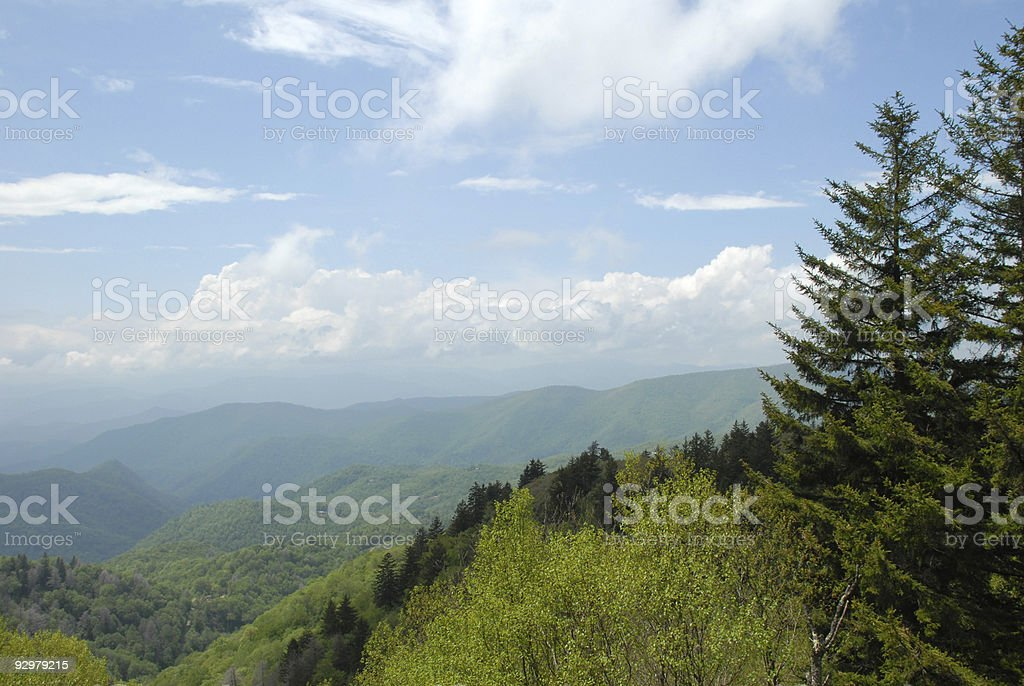 Wooly Back Overlook on the Blue Ridge Parkway stock photo