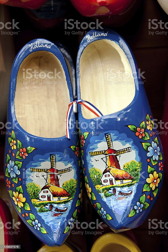 woooden clogs stock photo