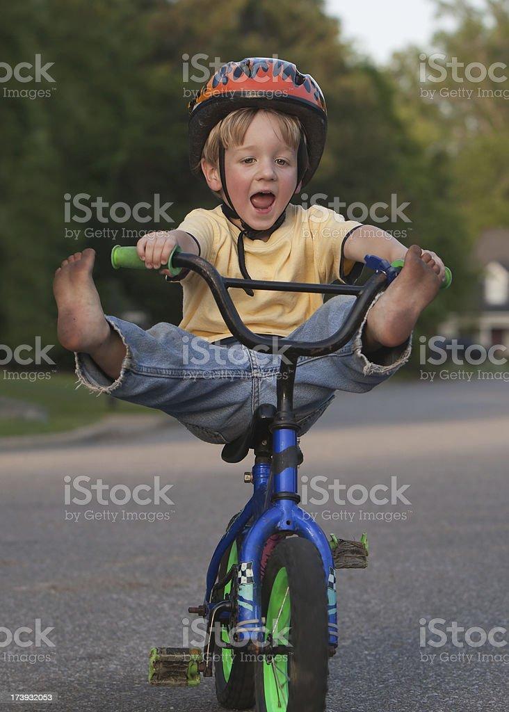 Wooo-Whooo Bike Ride! royalty-free stock photo