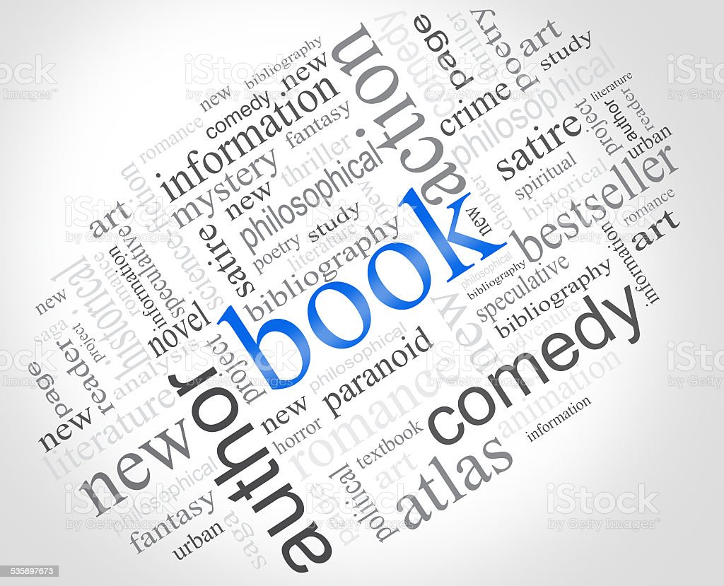 Woord Book Cloud stock photo