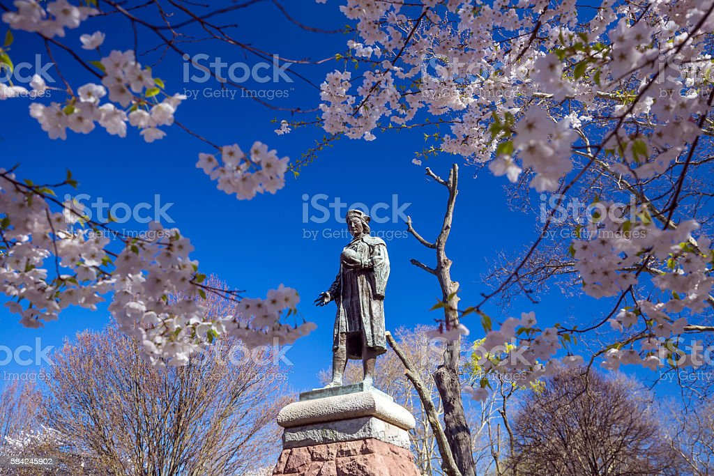 Wooster Square in New Haven stock photo