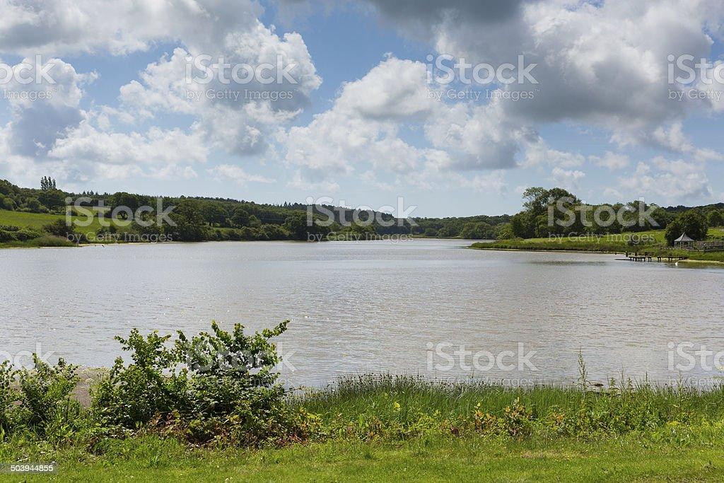 Wootton Bridge lake Isle of Wight between Ryde and Newport stock photo