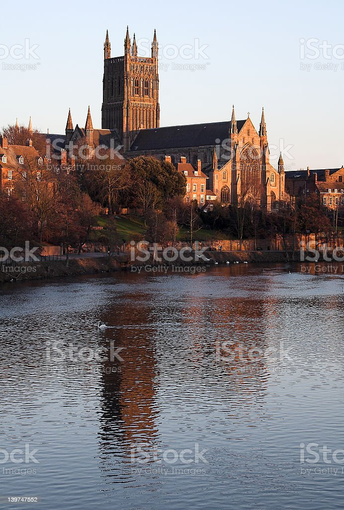 Worcester Cathedral royalty-free stock photo