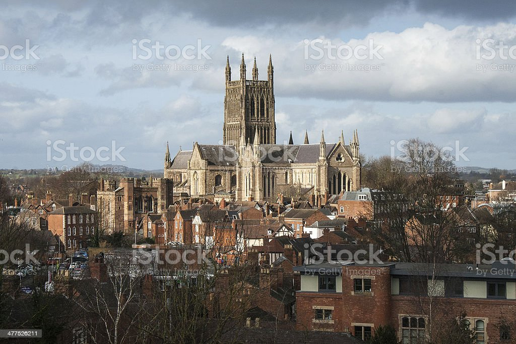 Worcester Cathedral stock photo
