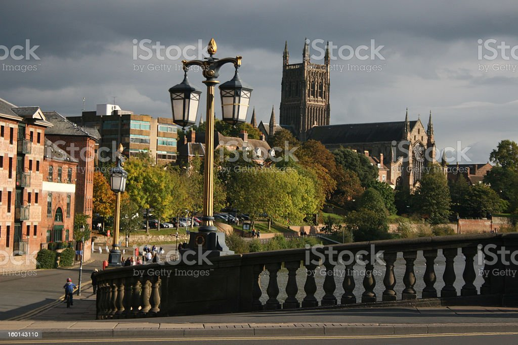 Worcester Cathedral,UK royalty-free stock photo