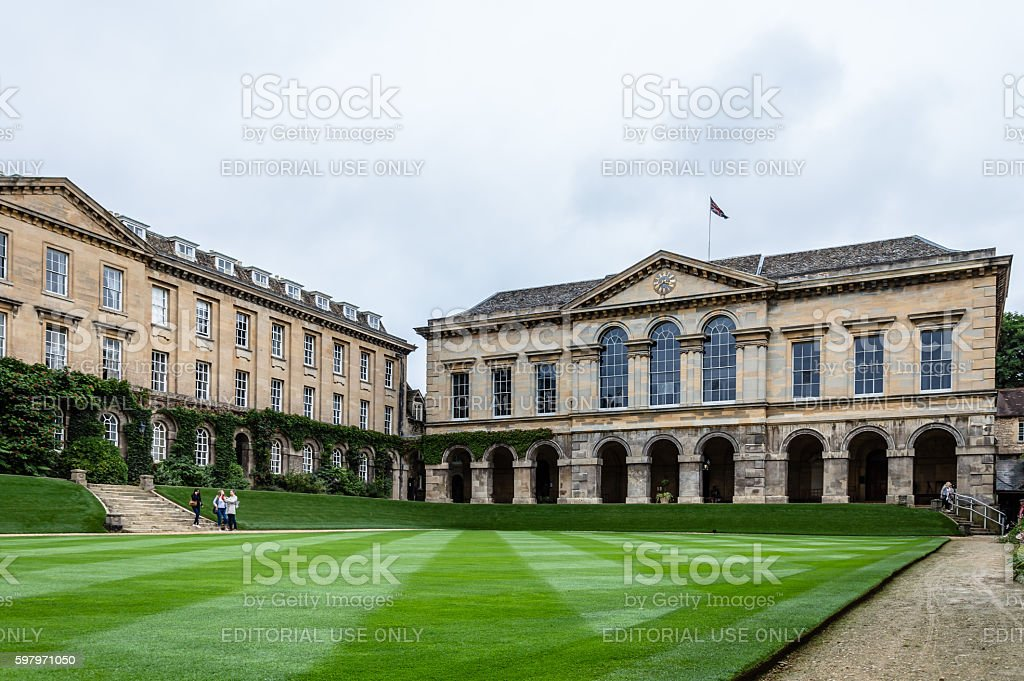 Worcester College in Oxford stock photo