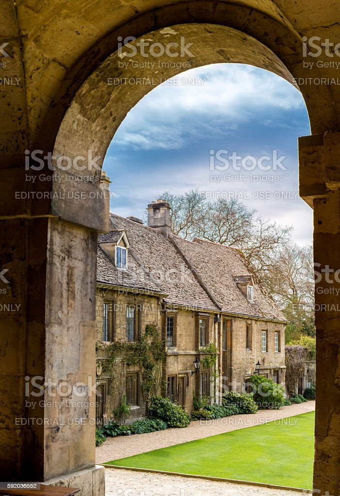 Worcester college stock photo