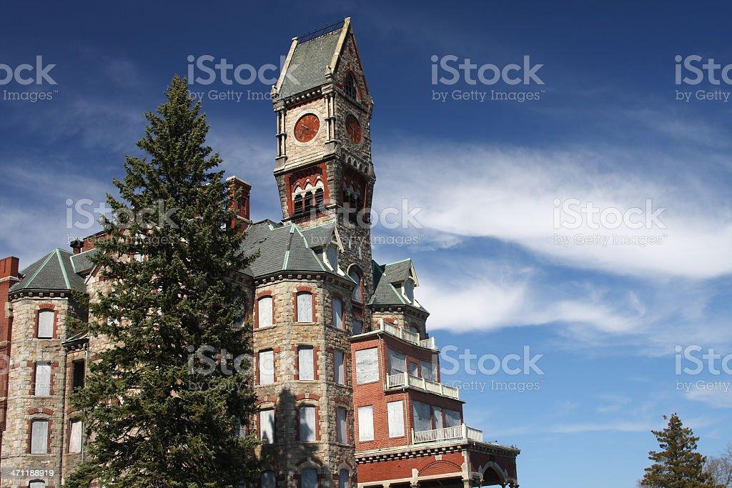Worcester Insane Hospital stock photo