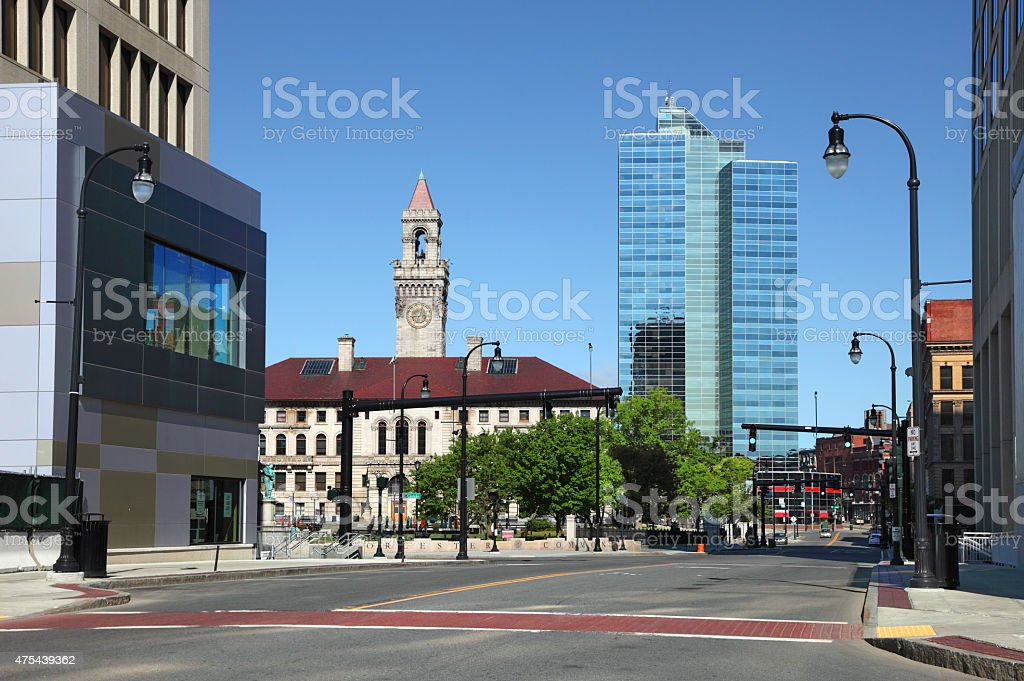Worcester Massachusetts stock photo