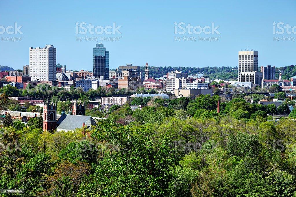 Worcester Massachusetts Skyline stock photo