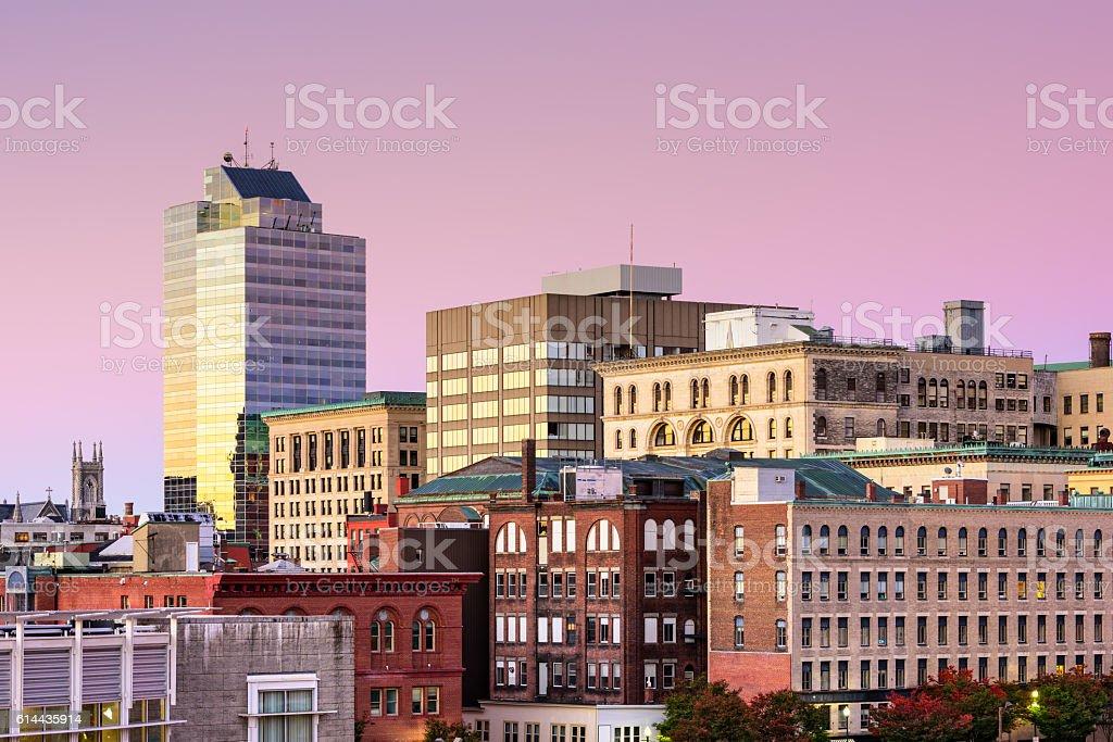 Worcester, Massachusetts Skyline stock photo