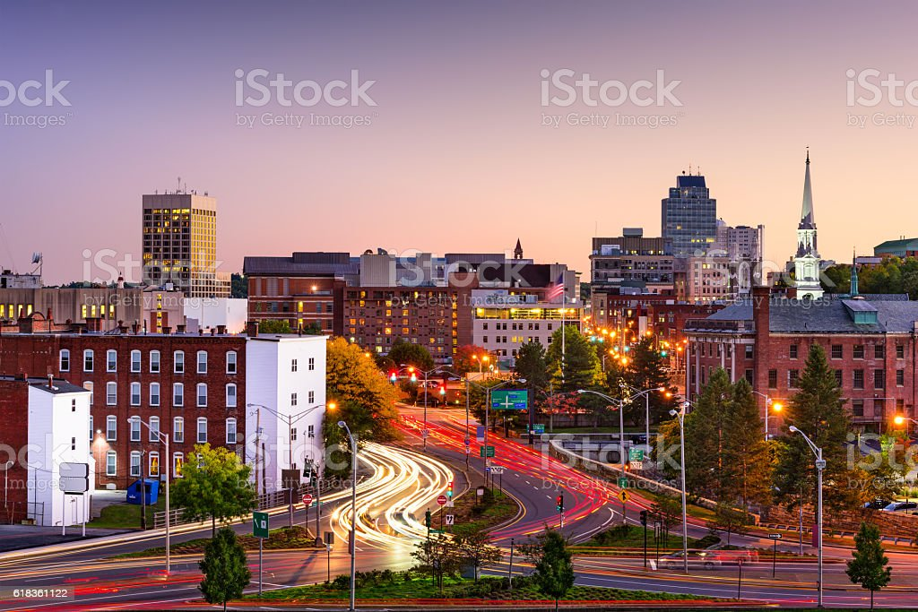 Worcester, Massachusetts Skyline stock photo