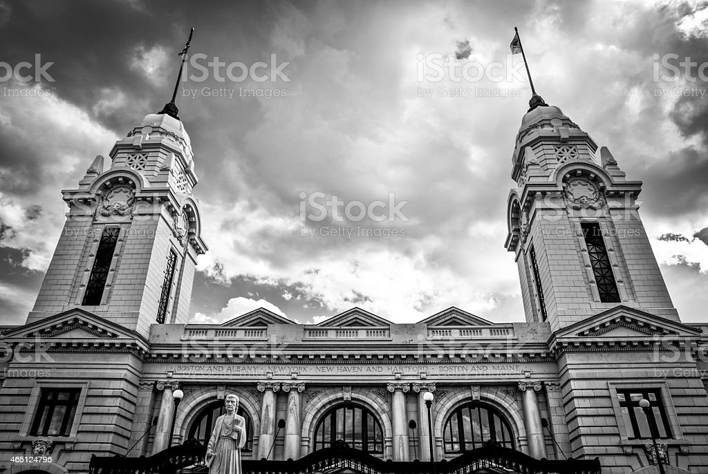 Worcester Union Station stock photo