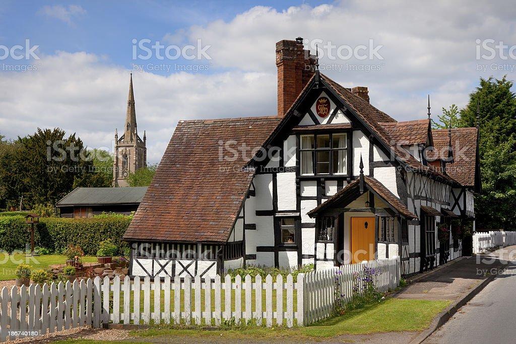 Worcestershire village stock photo
