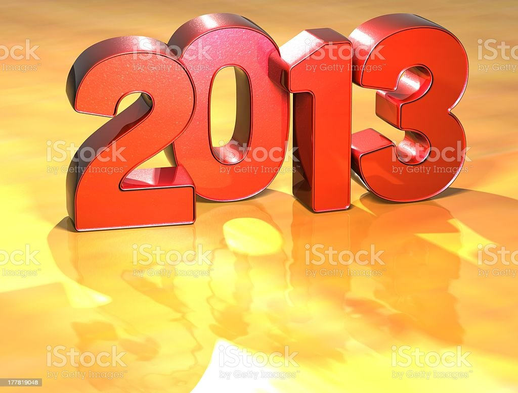Word 2013 on yellow background stock photo