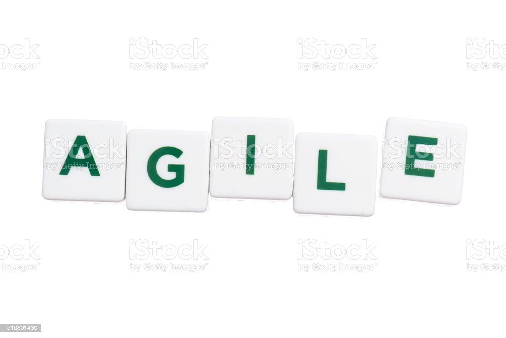 word agile stock photo