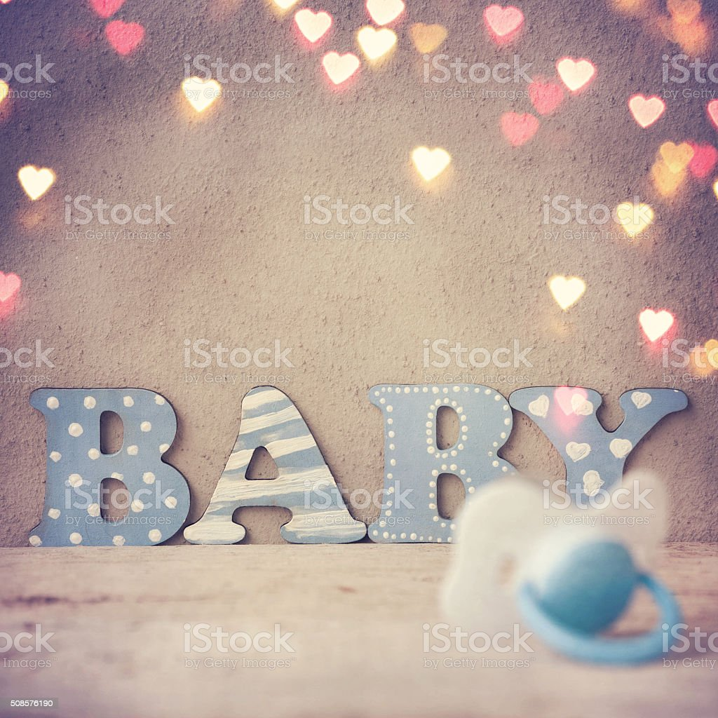 Word 'baby' stock photo